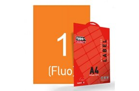 LABELS A4 ORANGE FLUO LASER-COPY-INKJET